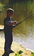 Kids love creek fishing near Buffalo National River during vacations for families.