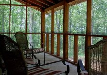 Screened in porch for vacations, family reunions, and group retreats.