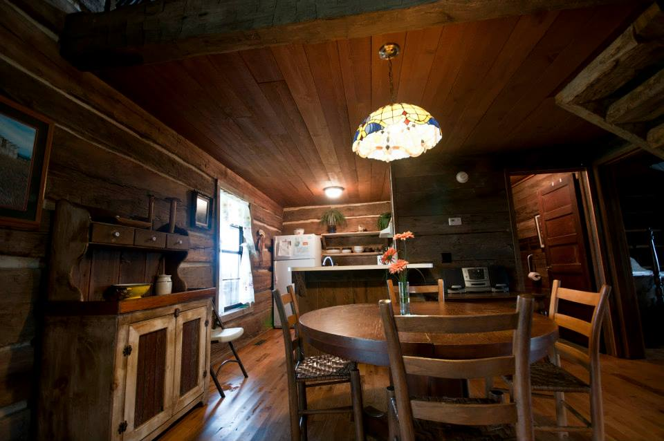 Fully-equipped kitchen for family dining or church group meetings.