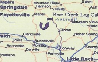North West  Arkansas Vacation Map highlights best family vacation getaway in Arkansas and Missouri Ozarks