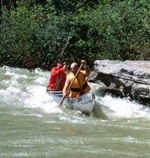 Canoeing white water on Buffalo National River, photo provided by BNR Partners website