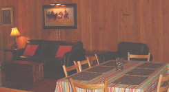 Roomy dining area and convenient kitchen for families and large groups.