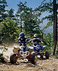 One of BEST private places to ride atv fourwheelers in ar or mo. ATV photo courtesy of Arkansas Department of Tourism
