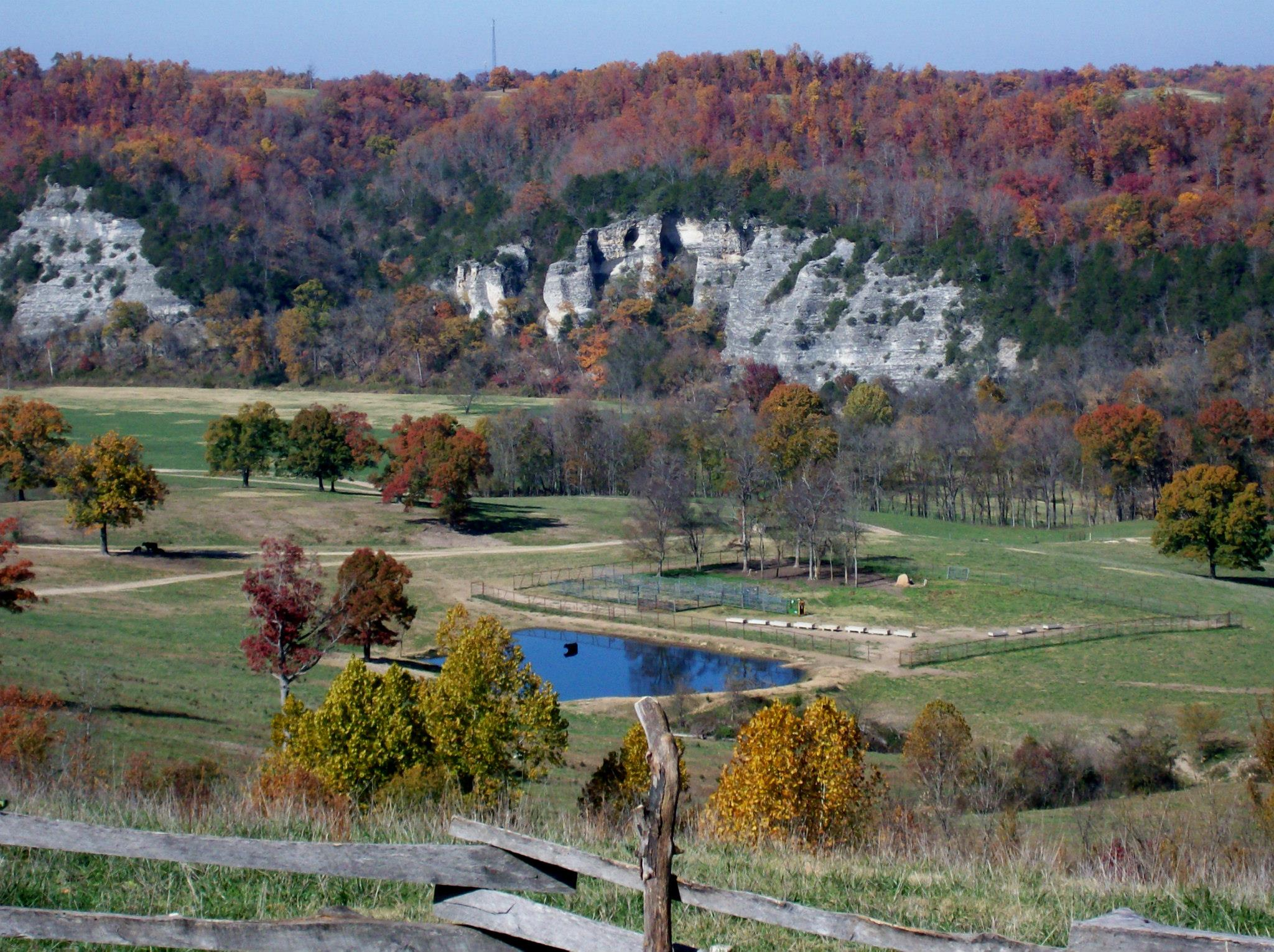 Buffalo River country bluffs surround our secluded mountain cabins for rent in Arkansas in the heart of the Ozarks.