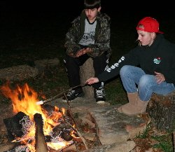 Visitors from Louisiana, Oklahoma, Missouri, and Texas all love a campfire in our cabins outdoor fire rings.