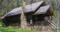 Beautifully restored buffalo river arkansas log cabin not far from Branson lakes country