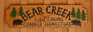 Bear Creek Log Cabins next door to Buffalo River National Park